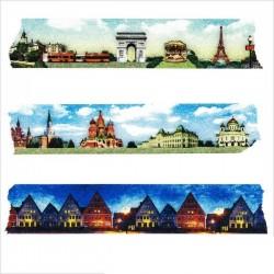 masking tape villes d'europe washi tape paris Russie pays scandinave