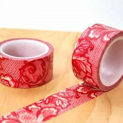 Masking tape large dentelle rouge