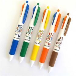 stylo kawaii miffy 4 couleurs pointe bille bleu noir vert rouge