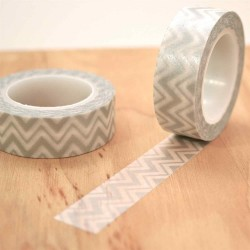 masking tape chevron argent