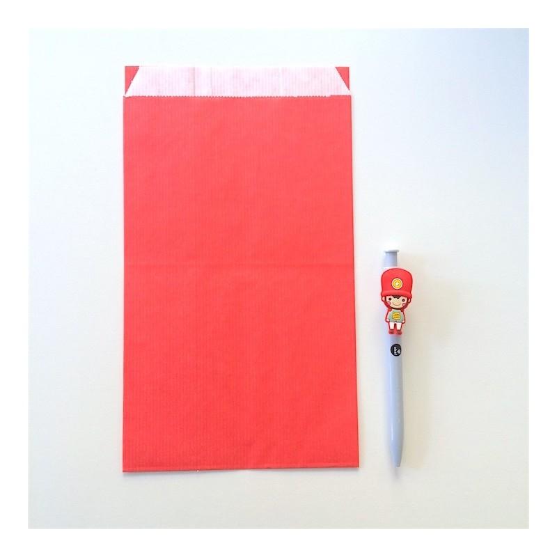 pochette papier kraft rouge 16 x 27 cm red emballage paper. Black Bedroom Furniture Sets. Home Design Ideas