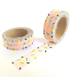 masking tape rose confétties washi tape pink
