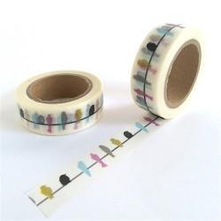 masking tape Hirondelles couleurs