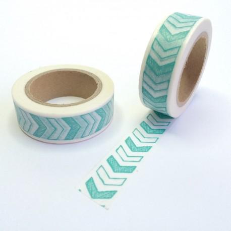 masking tape sketch cevron vert washi tape green arrow