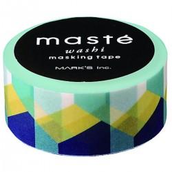 masking tape cube vert jaune bleu washi tape square green blue yellow