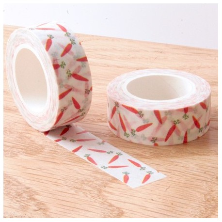 Masking tape carotte washi tape carrot orange