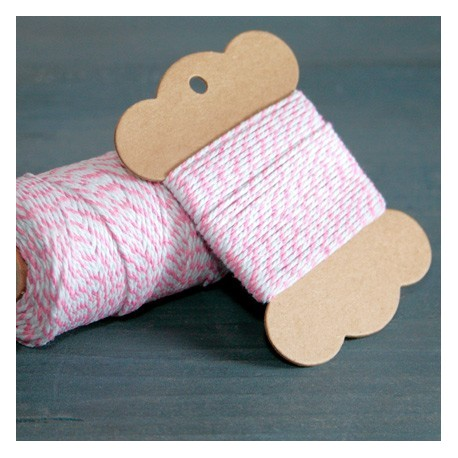 Baker twine rose princes  10 mètre light pink ficelle d'emballage