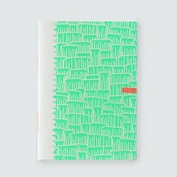 "Picote ""vert fluo""cahier dahu édition serigraphie shocking green"