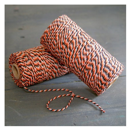 Baker twine halloween 100 mètre noir & orange ficelle d'emballage
