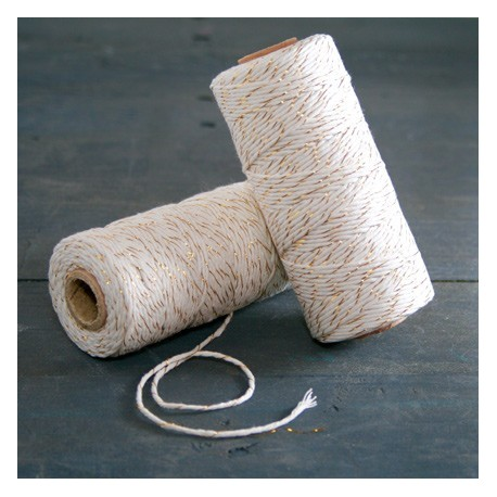 Baker  twine Or 100 mètre gold ficelle d'emballage