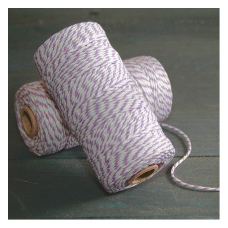 Baker twine lilas 100 mètre light purple ficelle violet d'emballage