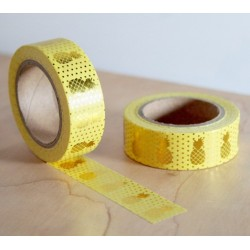 masking tape jaune ananas dorés washi tape yellow pineapple gold
