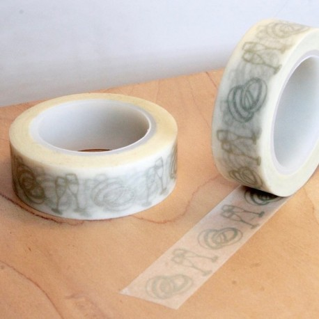 masking tape motifs alliance argenté washi tape ring champagne