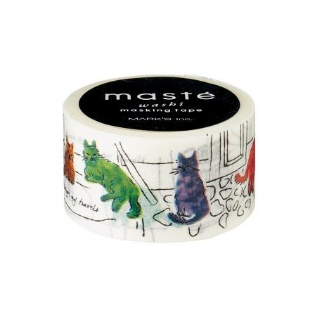 Masking tape Masté cats in Istanbul washi tape chat