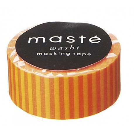 masking tape masté rayé orange WASHI TAPE orange strip