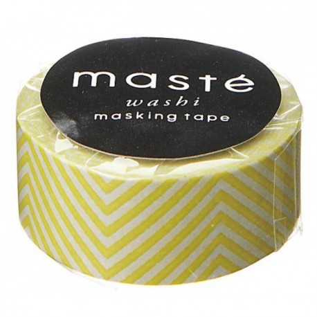Masking tape  zig-zag colorful yellow washi tape chevron jaune fluo