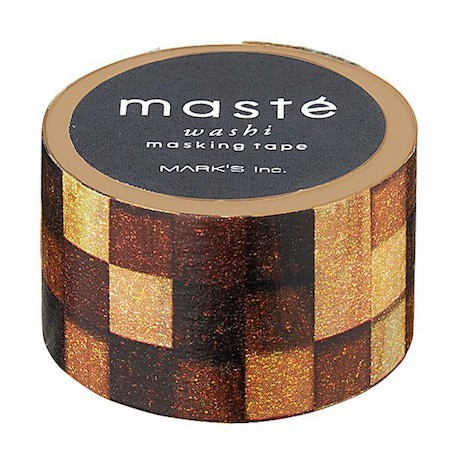 masking tape masté carreaux bois washi tape wood square