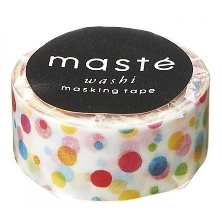 masking tape colorful dots masté