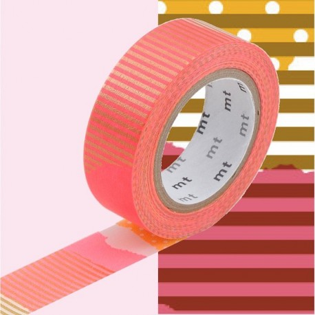 masking tape tsugihagi washi tape rose orange strep