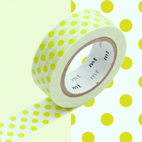 masking tape pois verts clair