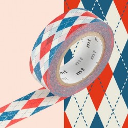 masking tape argyle red