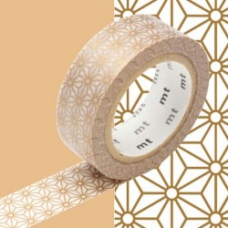 masking tape asanoha sinchu washi tape étoile golde or