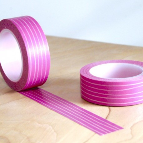 masking tape multiligne fuchsia washi tape rose