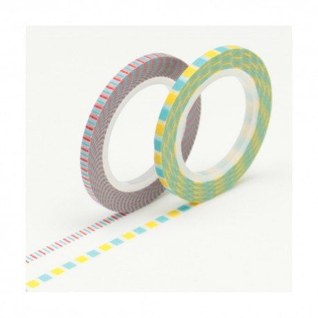 lot de 2 masking tapes slim 3mm D