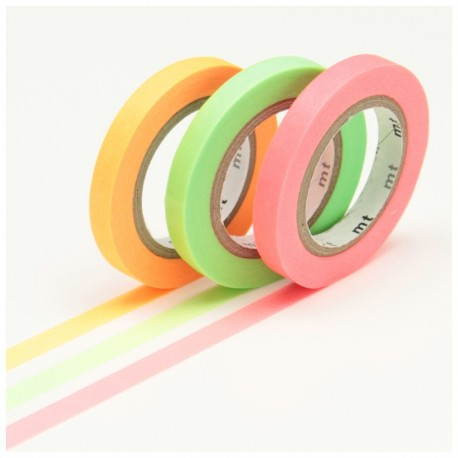 masking tape slim Fluo washi tape shocking colors