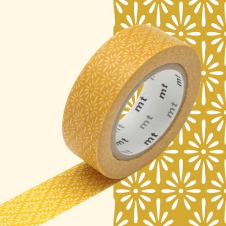 masking tape hanabishi kick jaune washi tape classic japan yellow