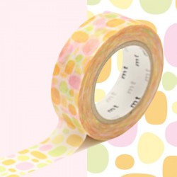 masking tape pavés pastels orange