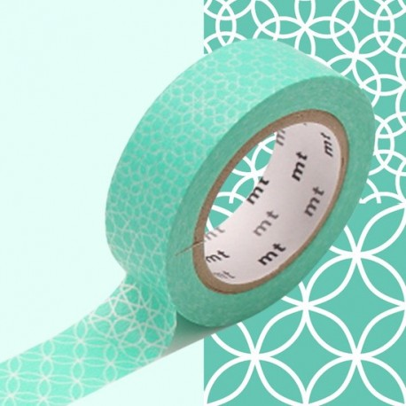 masking tape motif traditionnel lagon washi tape light green