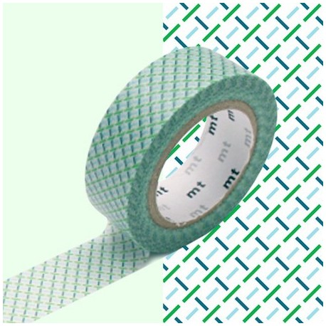 masking tape motif Tirets vert washi tape green canvas