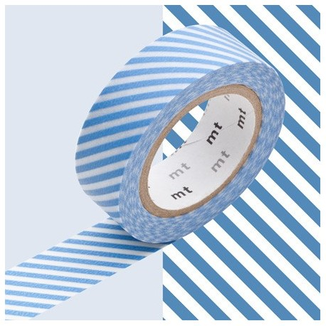 masking tape rayé bleu clair washi tape light blue strip