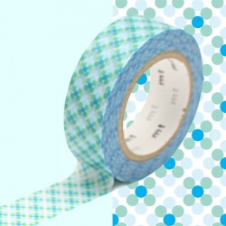 masking tape point bleu & vert washi tape blue & green dot