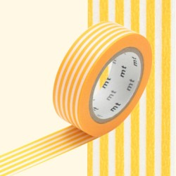 masking tape rayures jaunes horizontal washi tape yellow strip