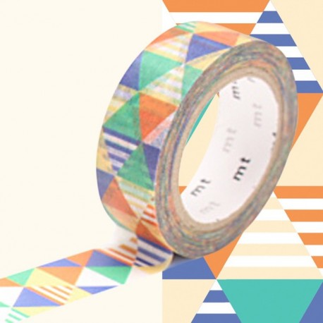 masking tape losanges bleu washi tape blue pyramid