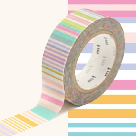 masking tape multi lignes pastels washi tape pastel strip