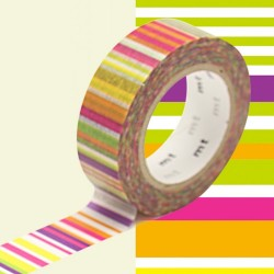 masking tape multi lignes vives washi tape colors strip