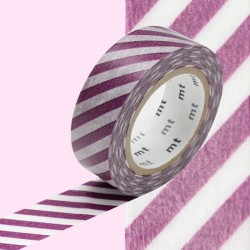 masking tape rayure diagonal violet  washi tape purple diago