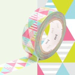 masking tape losanges rose