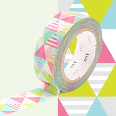 masking tape losanges rose washi tape pyramid pink