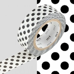 masking tape dot black washi tape pois noir
