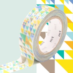 masking tape triangles bleu diago