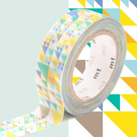 masking tape triangles bleu diago washi tape blue diago
