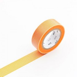 masking tape rayé orange