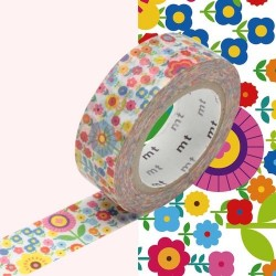 masking tape mini flower garden