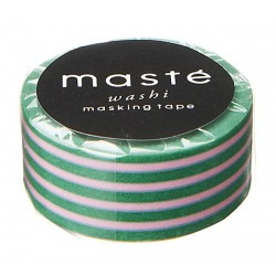 masking tape colorfull green / strip pink