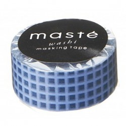masking tape NOSTALGIC navy checker washi tape carreaux bleu