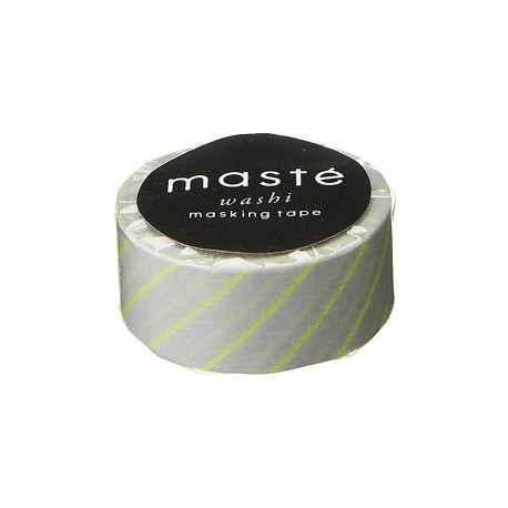 masking tape neon yellow stripe washi tape rayé jaune fluo